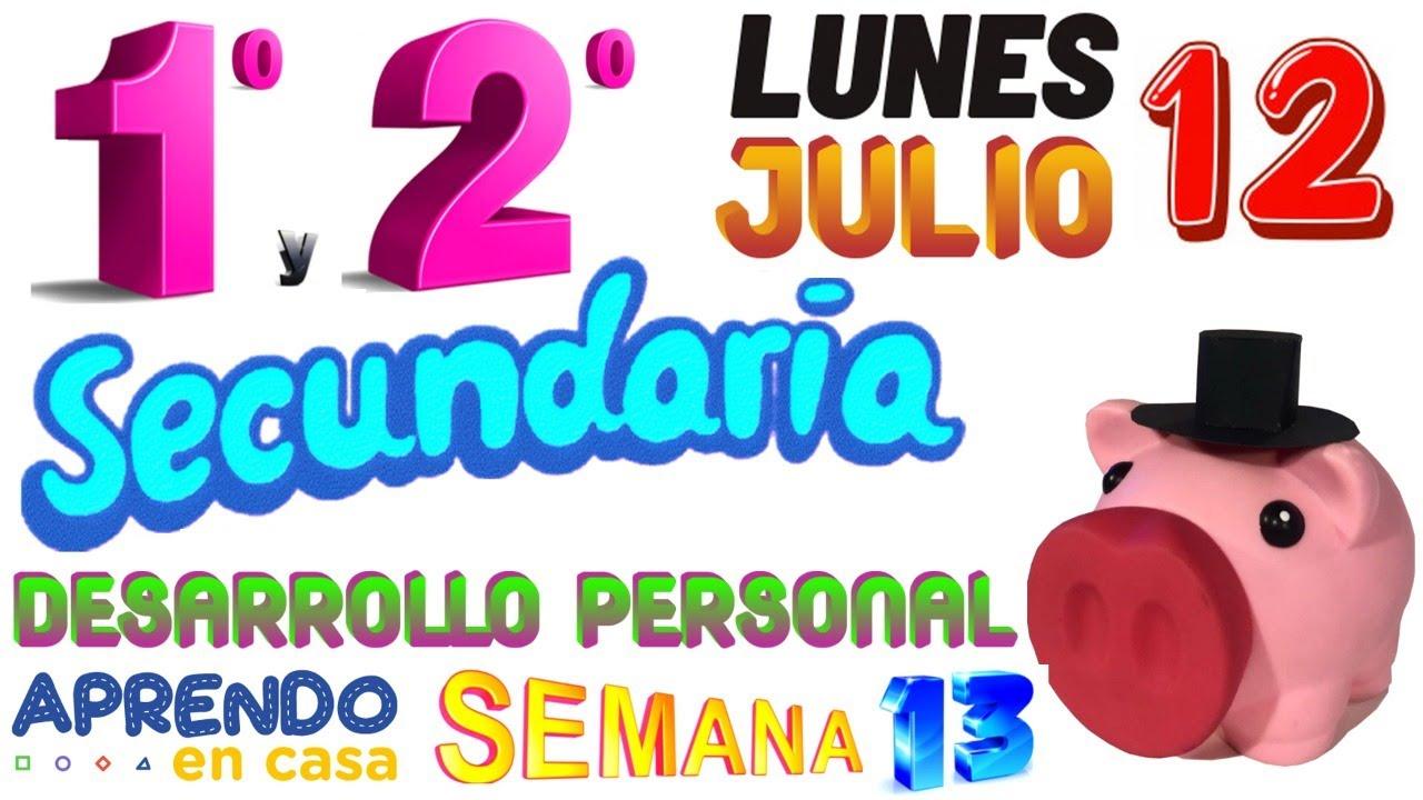 APRENDO EN CASA 1 Y 2 SECUNDARIA HOY LUNES 12 DE JULIO PRIMERO SEGUNDO GRADO SEMANA 13 1RO 2DO DPCC - download from YouTube for free