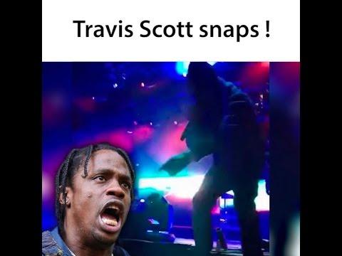 94de292780ca Travis Scott threatens security guard in Auto-Tune 😭😭💀