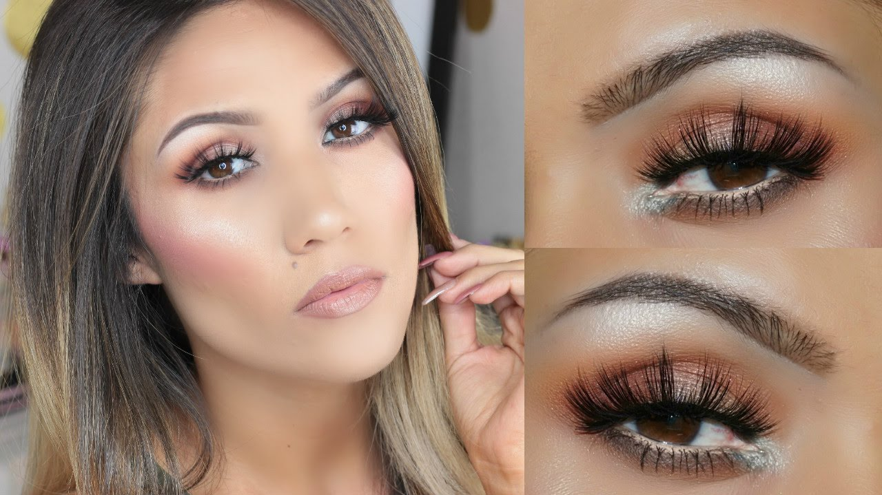 Morphe 350 Tutorial Easy Bronze Makeup Look - YouTube