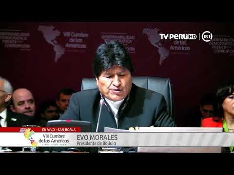 Evo Morales defiende a  Nicolás Maduro en la Cumbre de las Américas