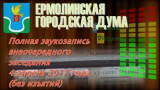 Внеочередное заседание ермолинской Думы (04.04.17)<