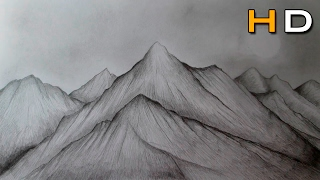 How to Draw Mountains With Pencil Step by Step - Drawing Landscape