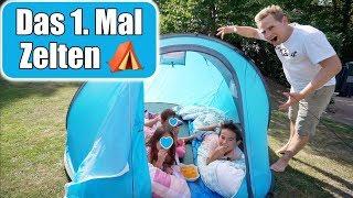 Johann vloggt 🎥 1. Mal Zelten! Schlafen Kinder alleine im Zelt? Mama & Papa Auszeit | Mamiseelen