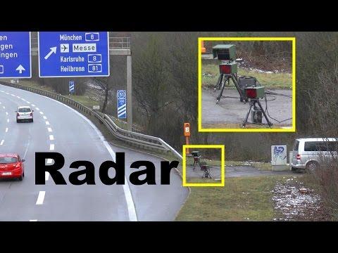 Radarfalle - Blitzer - Highway Police Radar Trap - Geschwindigkeitskontrolle Autobahn A831 Stuttgart