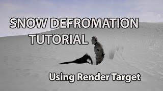 De Unreal Engine 4 - Het Vervormen Van De Sneeuw Met De Render Doel
