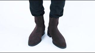 롤프 남자 남성 소가죽 앵글 부츠 워커 신발 겨울 가을…