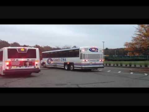 Livingston New Jersey Community Coach #77 to New York Port Authority Bus Terminal  .wmv