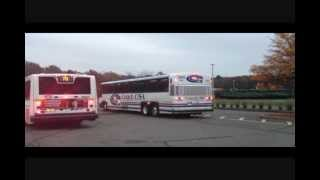 Livingston New Jersey Community Coach #77 to New York Port Authority Bus Terminal  .wmv
