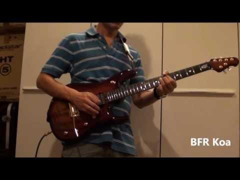 Music Man John Petrucci BFR Original vs Koa Shootout - Lead Tone