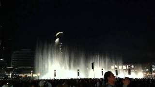 Dubai Mall Dancing Fountain - All Night Long