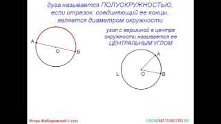 69 Градусная мера дуги окружности