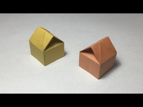 How to make a paper 3D House / Origami 3D House / tutorial / instruction