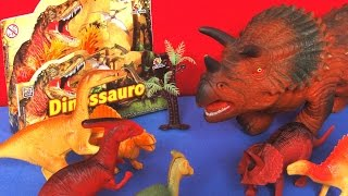 ANIMAL KINGDOM: DINOSSAUROS, DINOSAURS, DINOSAURIOS, unboxing plastic toys