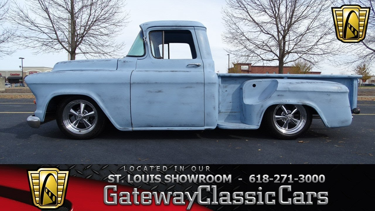1955 chevrolet stepside 3100 v8 auto air street rod classic - 1957 Chevrolet Pickup Stock 7103 Gateway Classic Cars St Louis Showroom Youtube