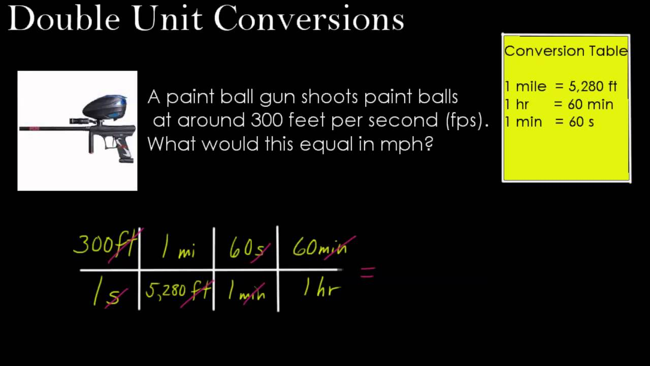 Dimensional Analysis Part 2 Double Unit Conversions Youtube