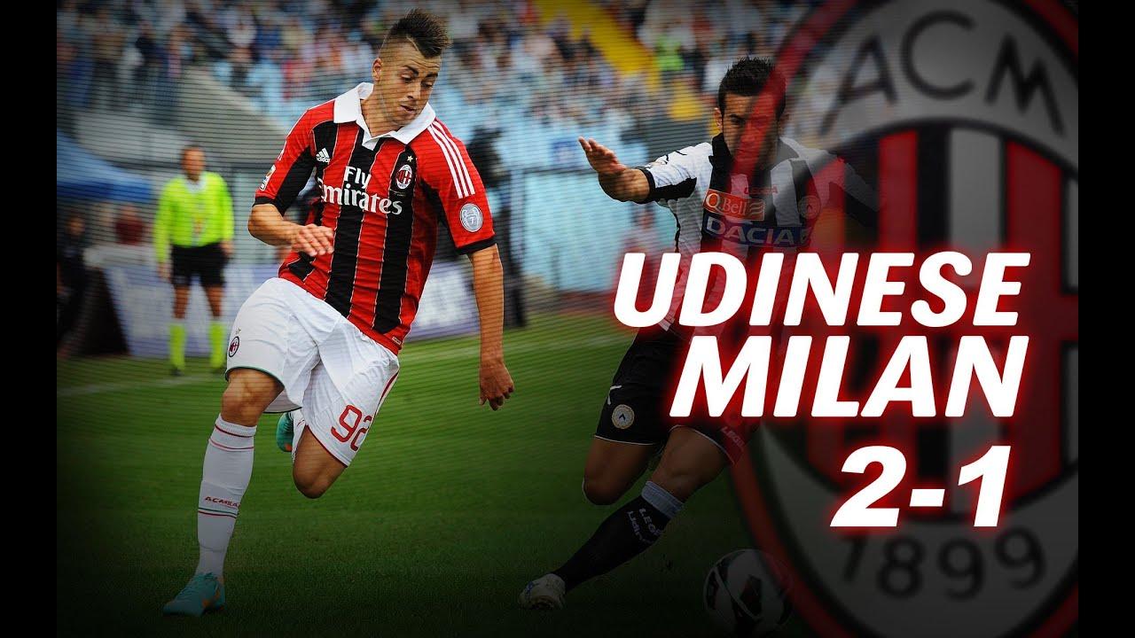 Udinese Milan 2 1 Youtube