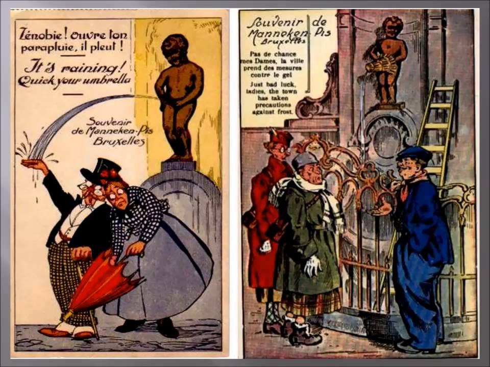 Bruxelles 11 - Vieilles cartes postales humoristiques - YouTube
