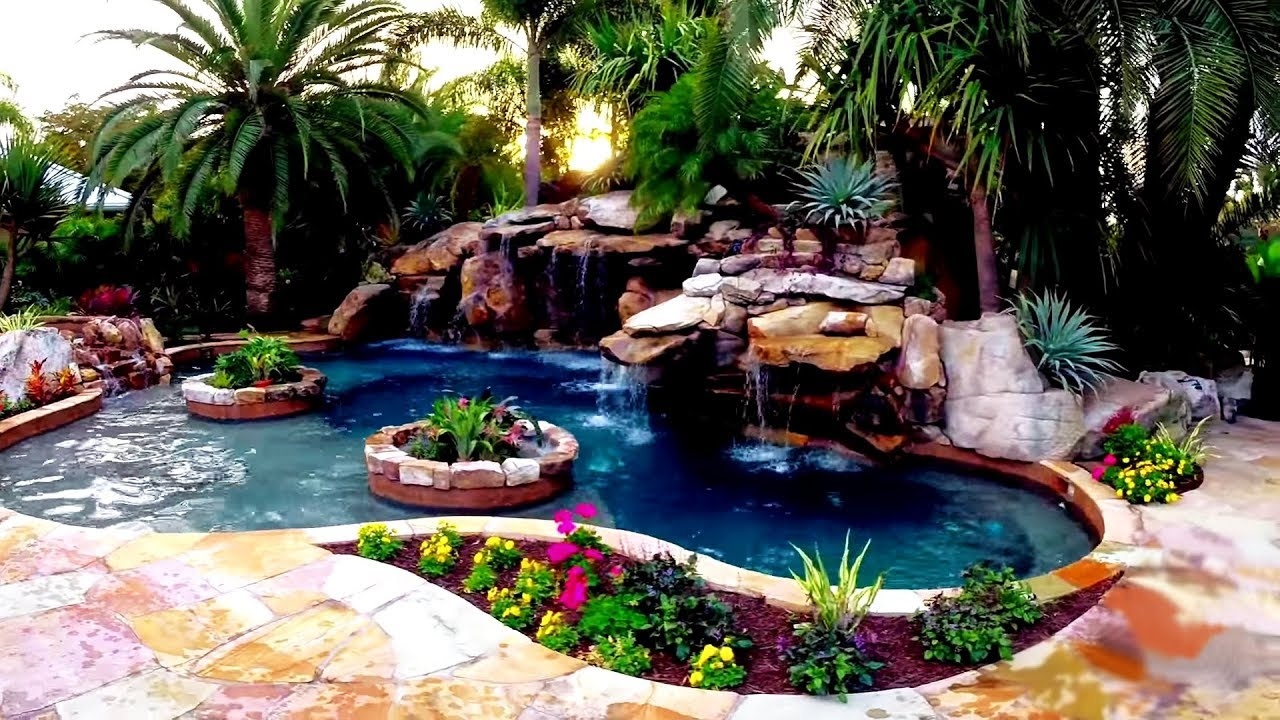 The ultimate backyard water garden youtube for Backyard water garden