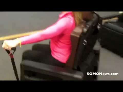 Gym Chair As Seen On Tv Banquet Covers Spandex Exercise Komo Am Chairmaster Youtube