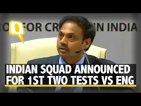 The Quint: Chairman of Selectors MSK Prasad on Rohit's Injury, Pandya and More