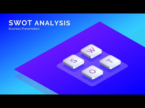 Business SWOT Analysis Isometric Design Presentation Slide In Microsoft Office 365 PowerPoint PPT