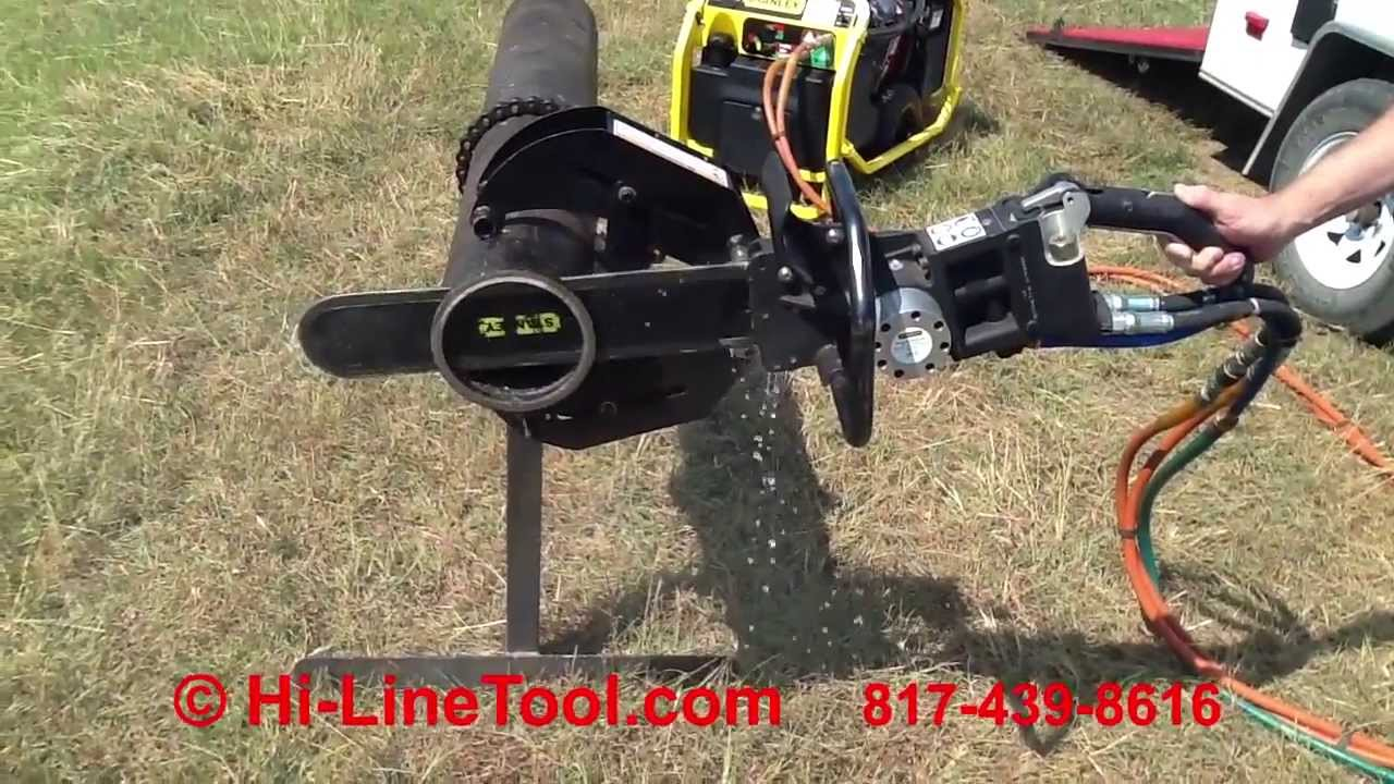 Hi Line Tool Demo Of Stanley Ds12 Hydraulic Chainsaw With