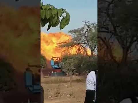 Bambilor : Un violent incendie dun puits de gaz risque de détruire plusieurs villages
