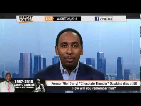 R I P To Darryl Chocolate Thunder Dawkins ESPN First Take