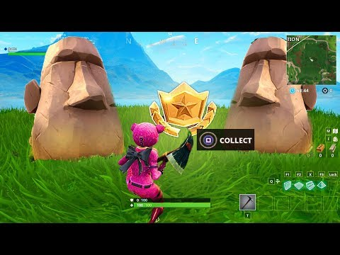 """Search Where The Stone Heads Are Looking"" LOCATION FORTNITE WEEK 6 SEASON 5 BATTLE STAR"
