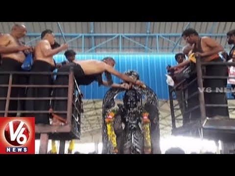 Devotees Throng Sanieshwara Swamy Temple In Nagarkurnool | V6 News