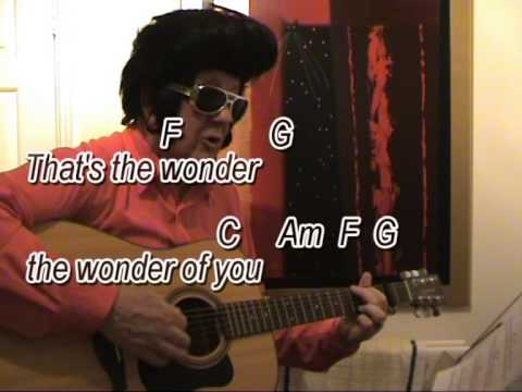 The Wonder of You - Elvis Presley impersonator - easy chords guitar ...