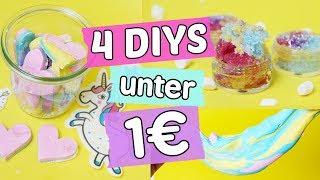4 einfache DIYs unter 1€ ◆ Knetseife, Einhorn 🦄 Lipscrub, Bügelbilder & Cupcake Kerzen
