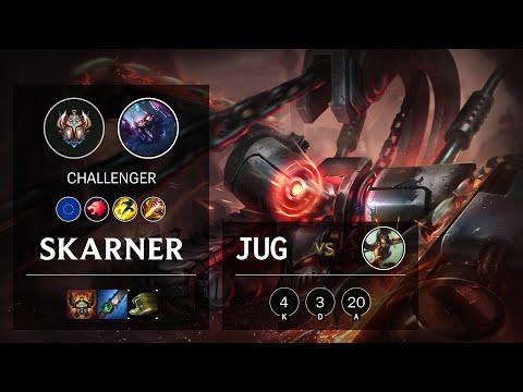 Skarner Jungle vs Nidalee - EUW Challenger Patch 10.20