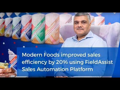 Modern Foods Improved Sales Efficiency By 20% Using FieldAssist Sales Force Automation Platform
