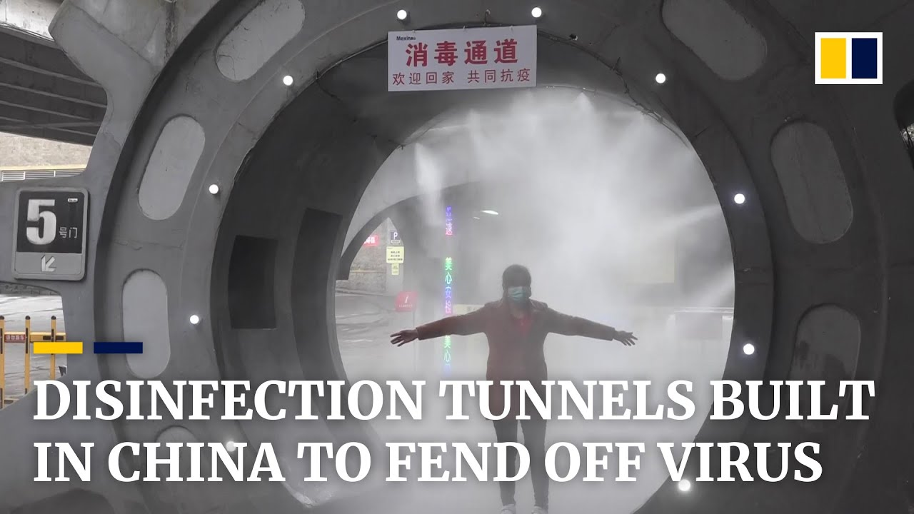 Disinfection tunnels built to clean people within                   20 seconds amid ...