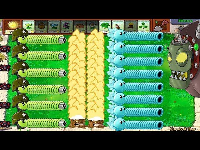 1 Dr. Zomboss vs Snow Pea and Gatling Pea Plants Vs Zombies