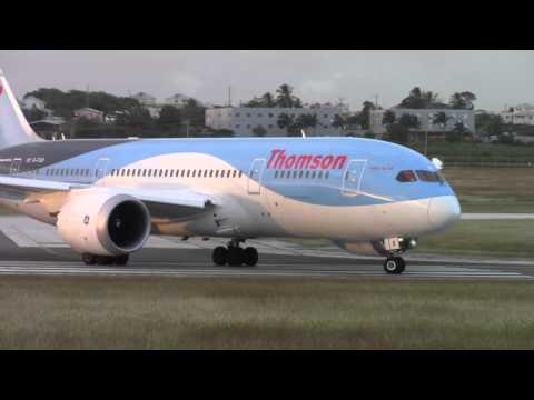 Thomson 787-8 Dreamliner Departure from Barbados- PURE GENX POWER