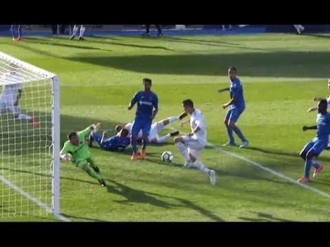Increible fallo de Cristiano a puerta vacia vs Getafe |  Liga 2017/2018