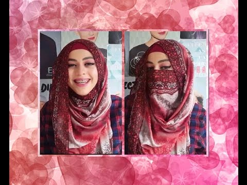 Convertible Niqab/Hijab Tutorial (Using a square scarf)