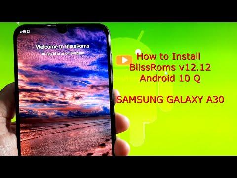 Samsung Galaxy A30: BlissRoms v12.12 20200921 Android 10 Q