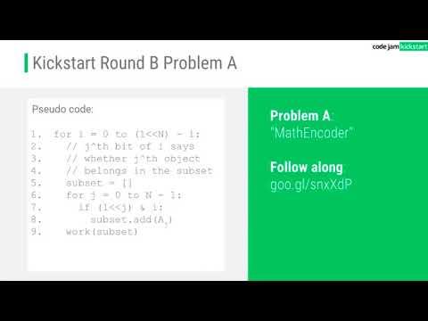 Code Jam Kickstart: Info, coding tips, and Q&A