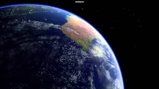 8K Planet Earth Shader for Unity 3D - Earth Flybys Demo #2