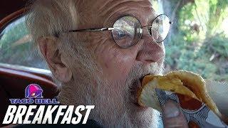 Angry Grandpa STILL HATES Taco Bell Breakfast!