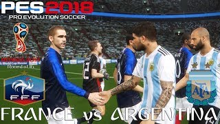 PES 2018 (PC) France v Argentina | 2018 FIFA WORLD CUP RUSSIA | ROUND OF 16 | 30/6/2018