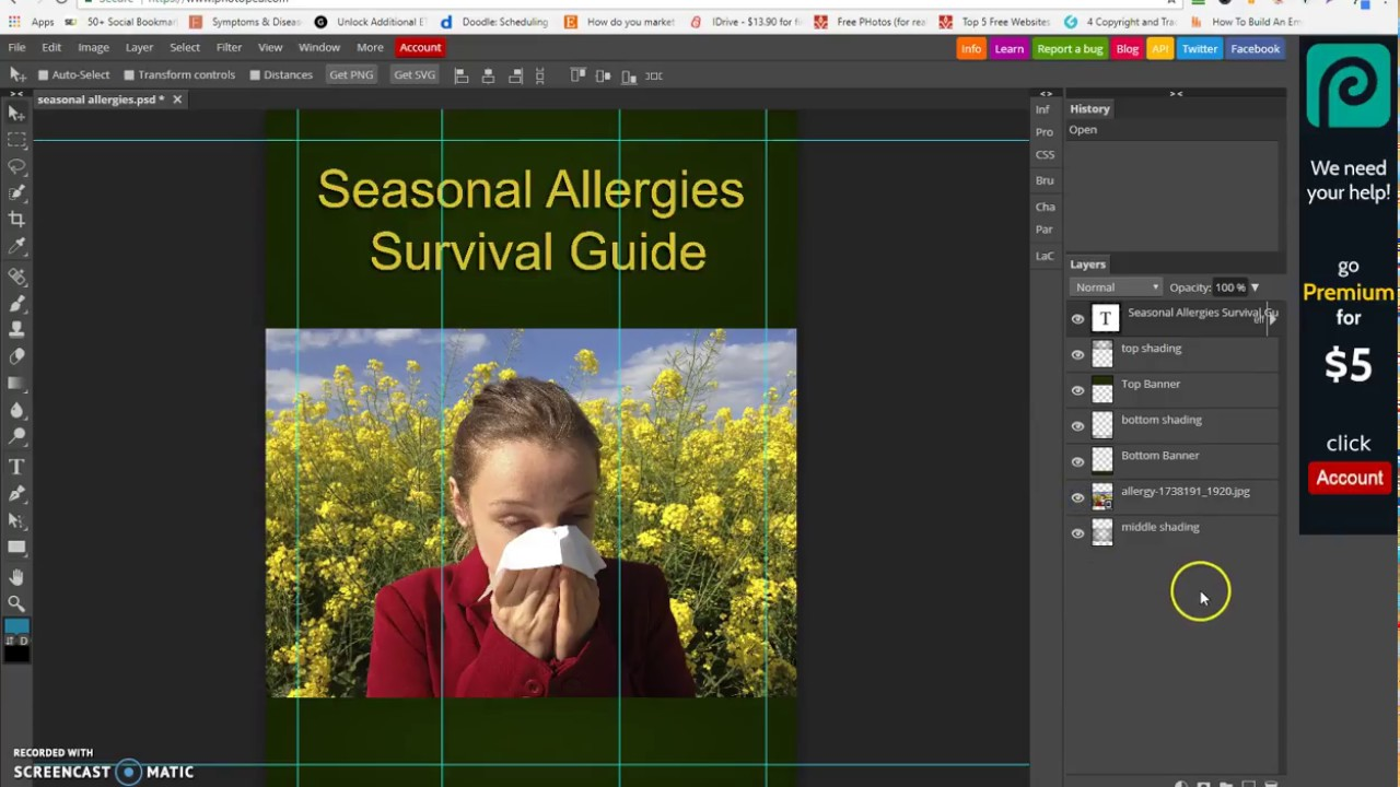 How to Use Photopea to Edit PLR PSD eCovers - Video #1