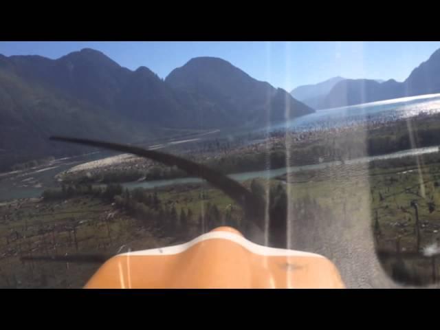 Stave Lake airstrip takeoff
