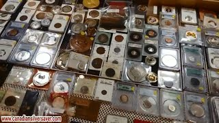 It's time for a tour of the Mississauga Ontario Coin & Stamp show October 2018