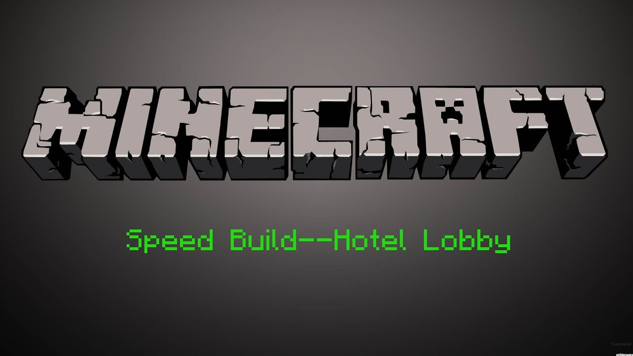 Minecraft Speed Build Hotel Lobby Youtube