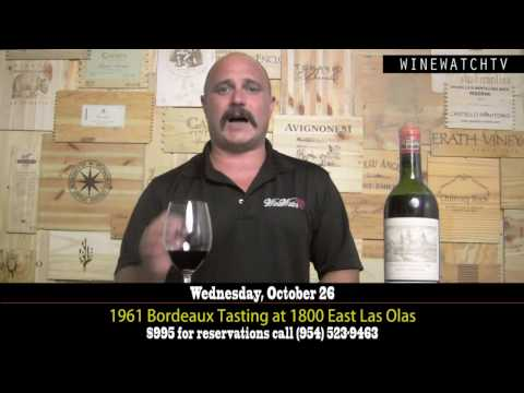 1961 Bordeaux Tasting at 1800 East Las Olas - click image for video