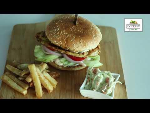 Chicken Mushroom  Burger Recipe by Chef Nazir